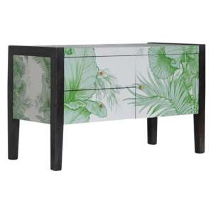 Avanti Wooden TV Stand In Tropical Pattern