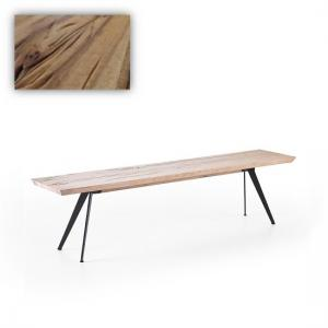 Avantis Dining Bench Rectangular In Wild Oak With Metal Legs