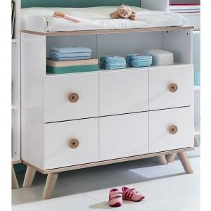 Avira Childrens Changer Drawers Chest In Alpine White And Oak