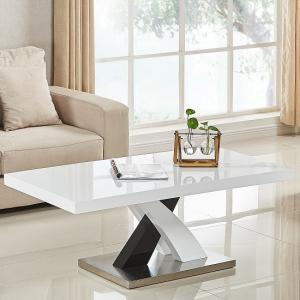 Axara Coffee Table Rectangular In White And Black High Gloss