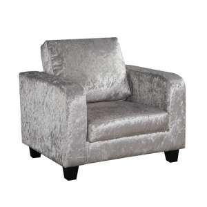 Axiolot Crushed Velvet Lounge Chair In Silver