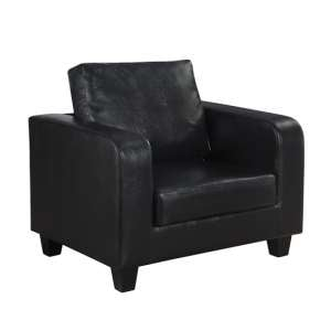Axiolot Faux Leather Lounge Chair In Black