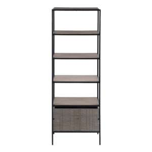 Aztek Wooden Bookcase In Acacia With Shelves