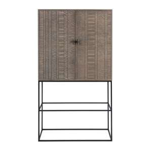 Aztek Wooden Wine Cabinet In Acacia