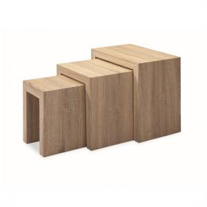 Bailey Wooden Nest Of 3 Tables In Oak