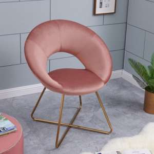 Barclay Velvet Dining Chair In Taupe With Gold Steel Legs