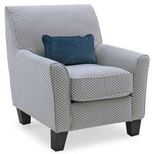 Barresi Fabric Accent Chair In Teal With Wooden Legs