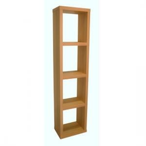 Bastian Wooden Bookcase In Beech With 3 Shelf