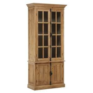 Batano Large Wooden 4 Doors Bookcase In Natural