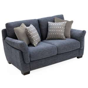 Beckett Fabric 2 Seater Sofa In Blue