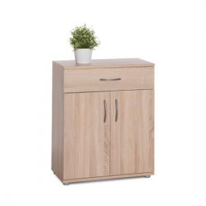 Becky Wooden Storage Cabinet In Sonoma Oak Effect