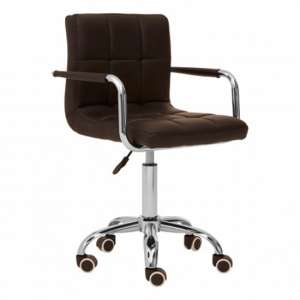 Becoa Home And Office Leather Chair In Black With Swivel Base