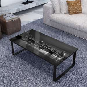 Beekhuis Patterned Glass Coffee Table In Grey