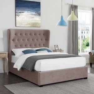 Belgravia King Size Fabric Bed In Cappuccino