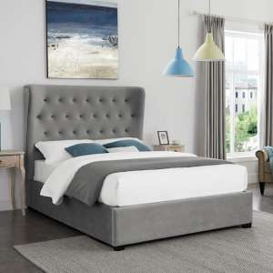 Belgravia Fabric Super King Size Bed In Grey