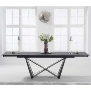 Benjamia Ceramic Extending Dining Table In Grey