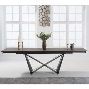 Benjamia Ceramic Extending Dining Table In Mink