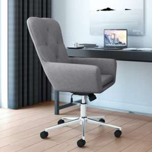 Benjamin Fabric Home And Office Chair In Grey