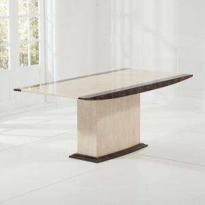 Bentley Marble Dining Table Rectangular In Cream And Brown_2