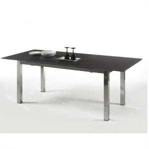 Bentini Extending Dining Table Large Black Glass
