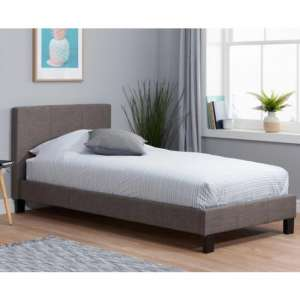 Berlin Fabric Single Bed In Grey