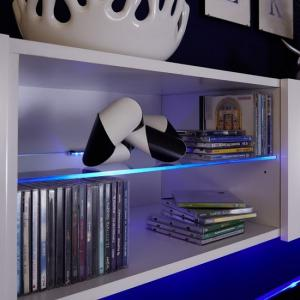 Berlin TV Stand In White With High Gloss Fronts And LED Lighting_4