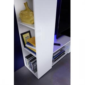 Berlin TV Stand In White With High Gloss Fronts And LED Lighting_5