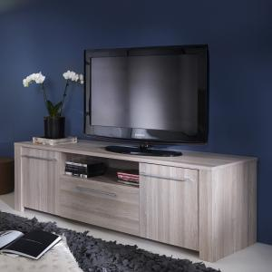 Berwick Wooden TV Stand In Shannon Oak With 2 Doors