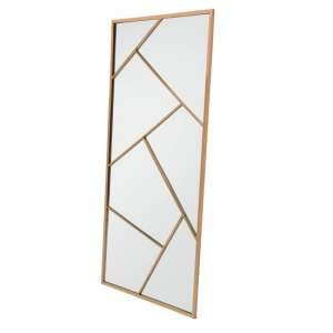 Betty Contemporary Floor Standing Mirror With RoseGold Frame