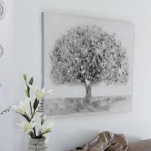 Big Tree Canvas Oil Painting In Wooden Frame With Aluminium Trim
