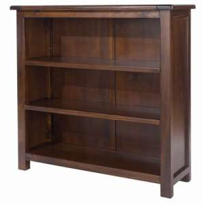 Biston Low Bookcase In Dark Tinted Lacquer Finish