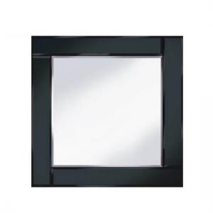 Bevelled Black 60x60 Square Wall Mirror