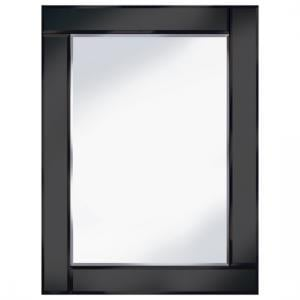 Bevelled Black 60x80 Rectangle Wall Mirror
