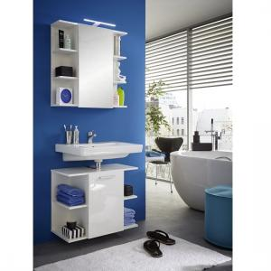 Blanco Bathroom Set In White With High Gloss Fronts And LED_2