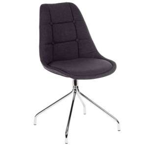 Blitz Fabric Visitor Chair In Graphite With Chrome Legs