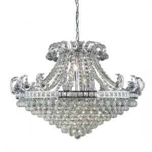 Bloomsbury 8 Light Chandelier In Chrome And Clear Crystal