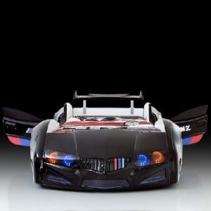 BMW Childrens Car Bed In Black With LED Lighting And Spoiler_4