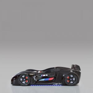 BMW Childrens Car Bed In Black With LED And Leather Seats_3