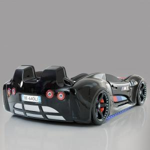 BMW Childrens Car Bed In Black With LED And Leather Seats_4