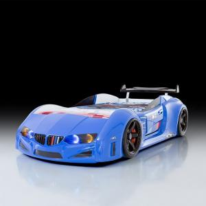 BMW Childrens Car Bed In Blue With LED Lighting And Spoiler_2