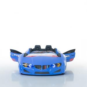 BMW Childrens Car Bed In Blue With LED And Leather Seats_5