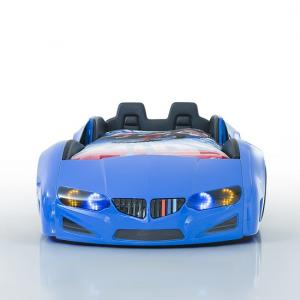 BMW Childrens Car Bed In Blue With LED And Leather Seats_6