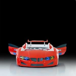 BMW Childrens Car Bed In Red With LED Lighting And Spoiler_3
