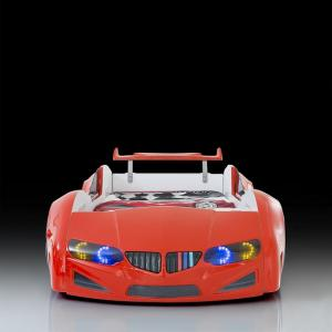 BMW Childrens Car Bed In Red With LED Lighting And Spoiler_4