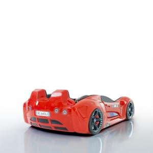 BMW Childrens Car Bed In Red And LED With Leather Seats_5