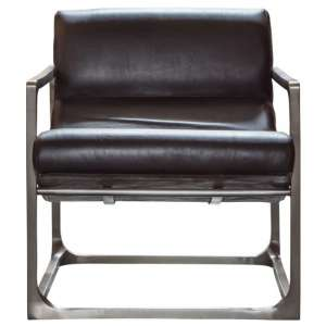 Boda Leather Lounge Chair In Black