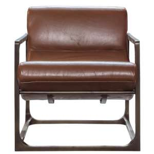 Boda Leather Lounge Chair In Brown
