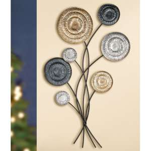 Bonito Metal Wall Art In Gold And Black Silver