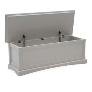 Boody Wooden Blanket Box In Grey Painted Finish