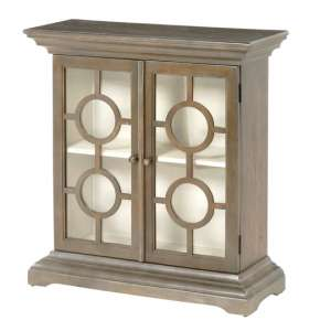 Bordeaux Wooden Display Cabinet In Pewter Grey